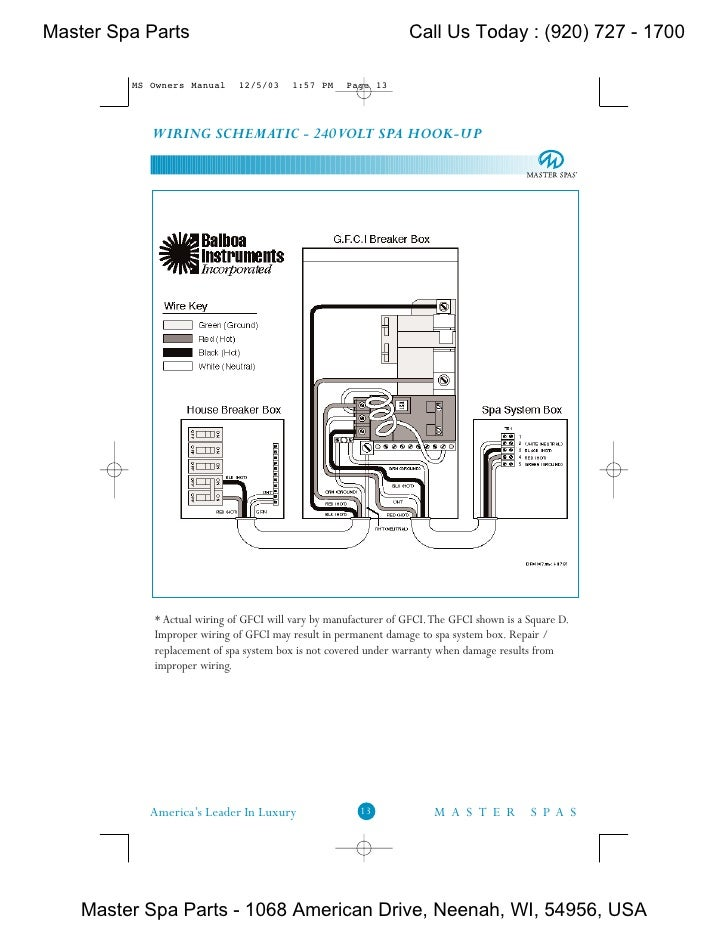 2004 jet away owner s manual rh slideshare net Hot Tub 220V Wiring-Diagram 220V GFCI Breaker Wiring Diagram