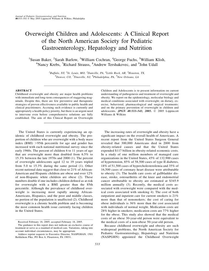 Journal of Pediatric Gastroenterology and Nutrition 40:533–543 Ó May 2005 Lippincott Williams & Wilkins, Philadelphia     ...