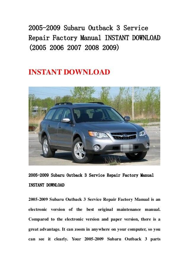 2006 subaru outback service manual open source user manual u2022 rh dramatic varieties com Subaru Boxer Diesel New 2012 Subaru Diesel