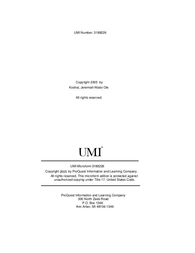 Umi dissertation services ann arbor michigan