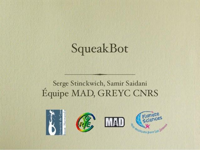 SqueakBot Serge Stinckwich, Samir Saidani Équipe MAD, GREYC CNRS