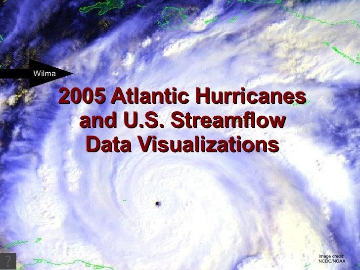 2005 Atlantic Hurricanes and U.S. Streamflow Data Visualizations Image credit: NCDC/NOAA