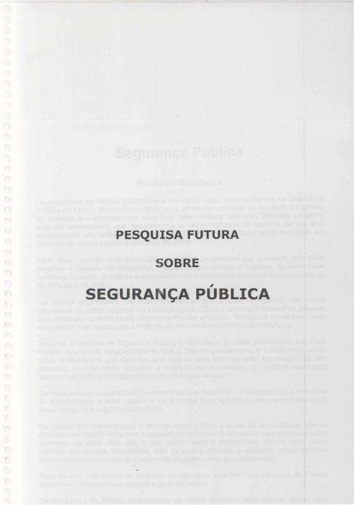 2005   pesquisa futura - segurança publica
