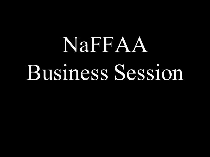 NaFFAA Business Session