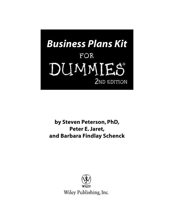 how to build a business plan for dummies
