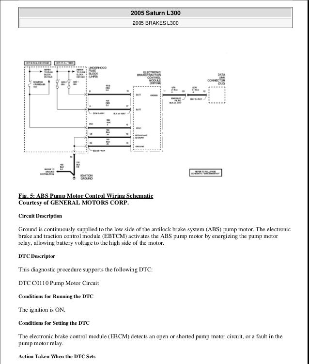 antilock brakes 20 fig 5 abs pump motor control wiring schematic courtesy of general motors