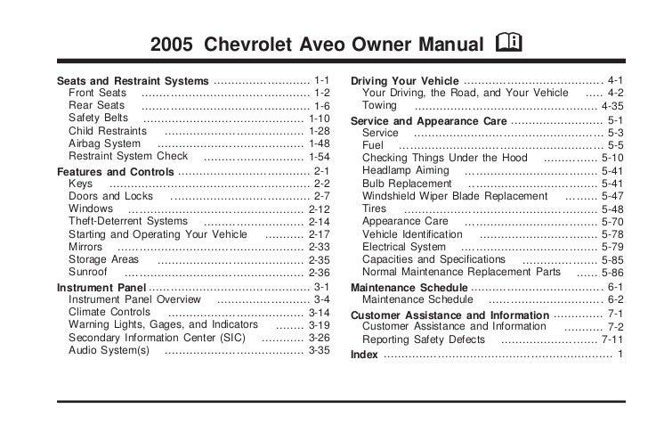 2005 aveo owners manual online user manual u2022 rh pandadigital co 2006 chevy aveo owners manual online 2008 chevrolet aveo owners manual pdf