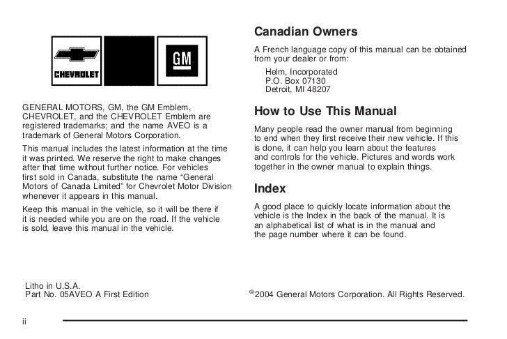 2005 aveo owners manual online user manual u2022 rh pandadigital co 2004 ML320 Interior 2005 ML320