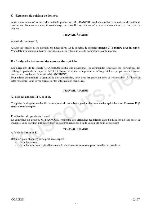 C - Extension du schéma de donnéesAprès s'être intéressé au suivi des coûts de production, M. FRANÇOIS souhaite améliorer ...