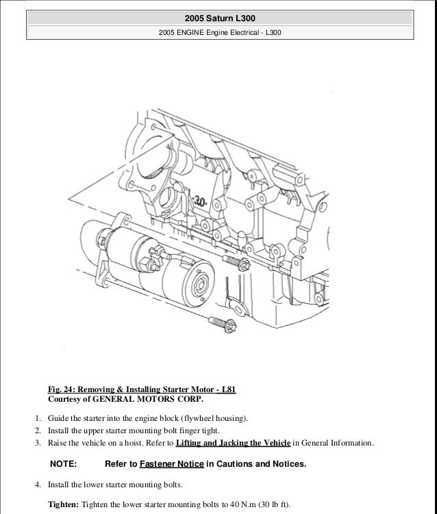 2005 engine electrical