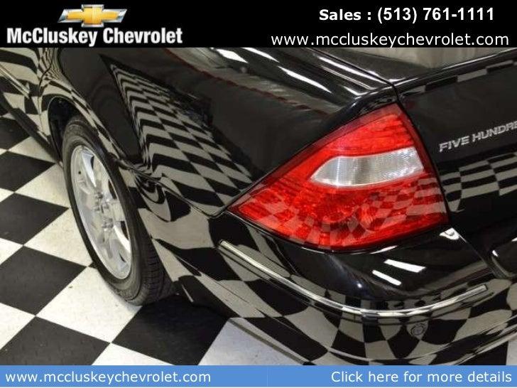 Used 2005 Ford Five Hundred Sel Sedan At Cincinnati