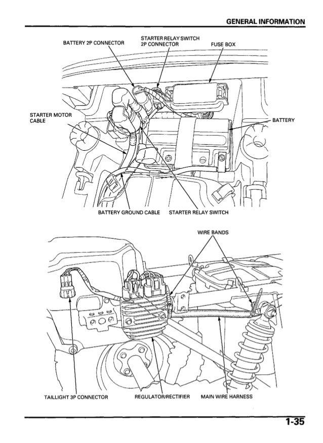 2005 honda trx500 fm fourtrax foreman service repair manual