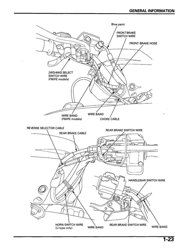 2005 honda trx500 tm fourtrax foreman service repair manual