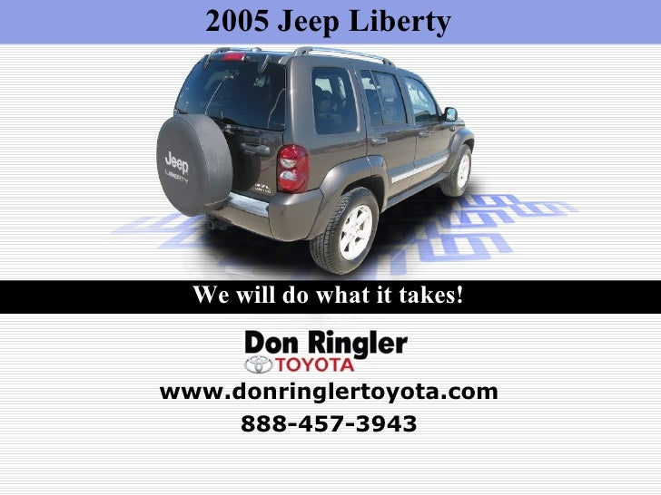 2005 Jeep Liberty For Sale - Don Ringler Car Dealer, Tx