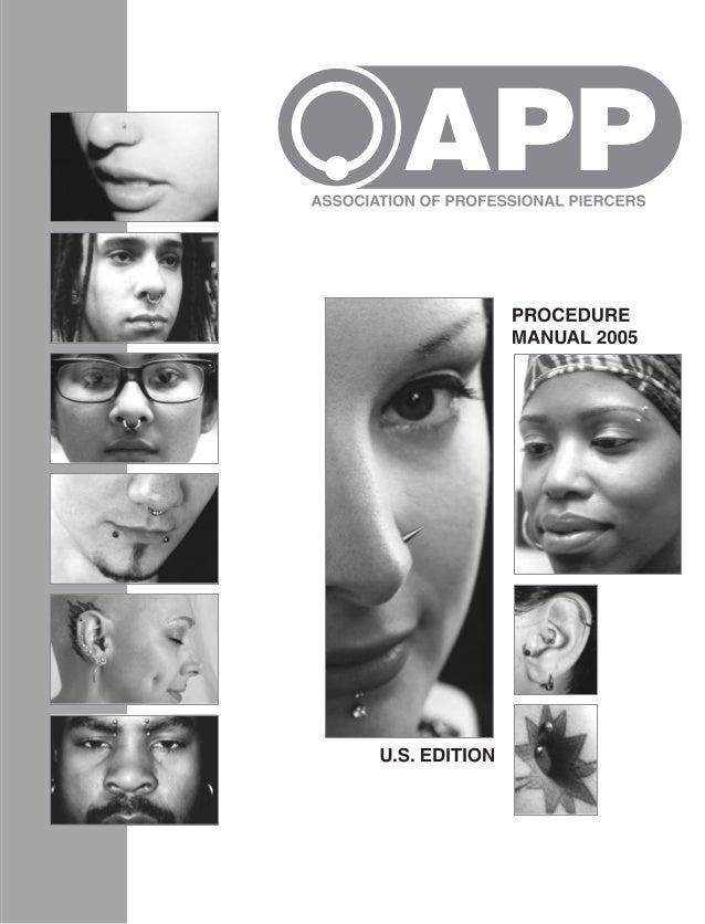 THEASSOCIATIONOFPROFESSIONALPIERCERSPROCEDUREMANUALU.S.EDITION