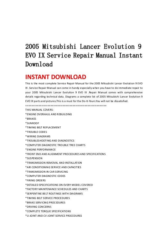 2005 Mitsubishi Lancer Evolution 9 Evo Ix Service Repair Manual Insta. 2005 Mitsubishi Lancer Evolution 9evo Ix Service Repair Manual Instantdownloadinstant Download This Is The Most Ple. Mitsubishi. 2005 Mitsubishi Lancer Evolution Parts Diagram At Scoala.co