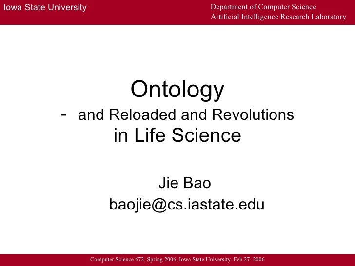 Ontology - and Reloaded and Revolutions