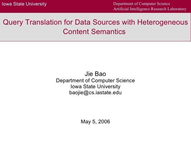 Query Translation for Data Sources with Heterogeneous Content Semantics