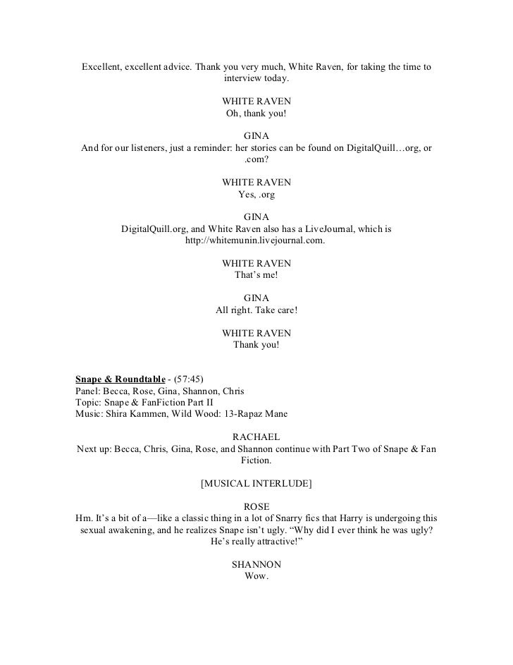 2006 08-01-snapecast ep03-transcript