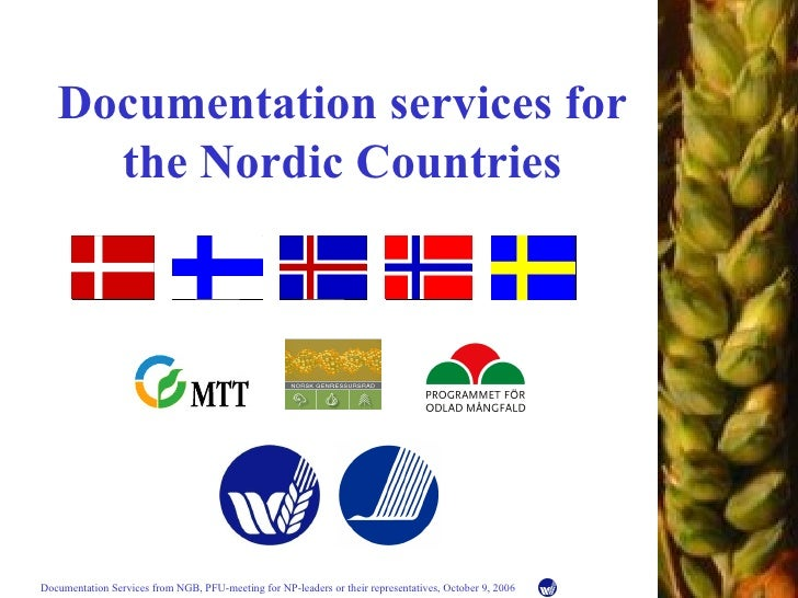 Documentation service s  for the Nordic Countries
