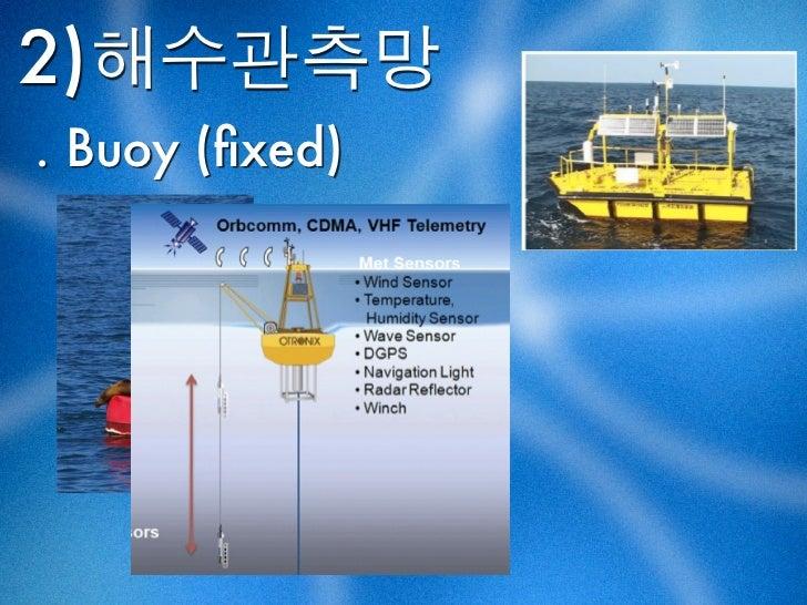 2)해수관측망. Buoy (fixed)