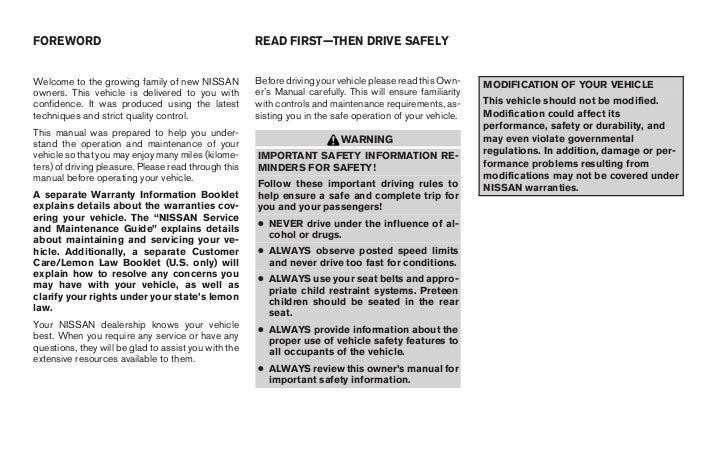 2006 maxima owner s manual rh slideshare net 2003 Nissan Maxima SE Interior 2006 nissan maxima repair manual pdf