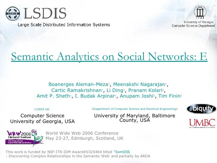 Semantic Analytics on Social Networks: Experiences in Addressing the Problem of Conflict of Interest Detection World Wide ...