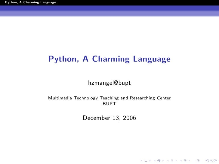 Python, A Charming Language                           Python, A Charming Language                                         ...