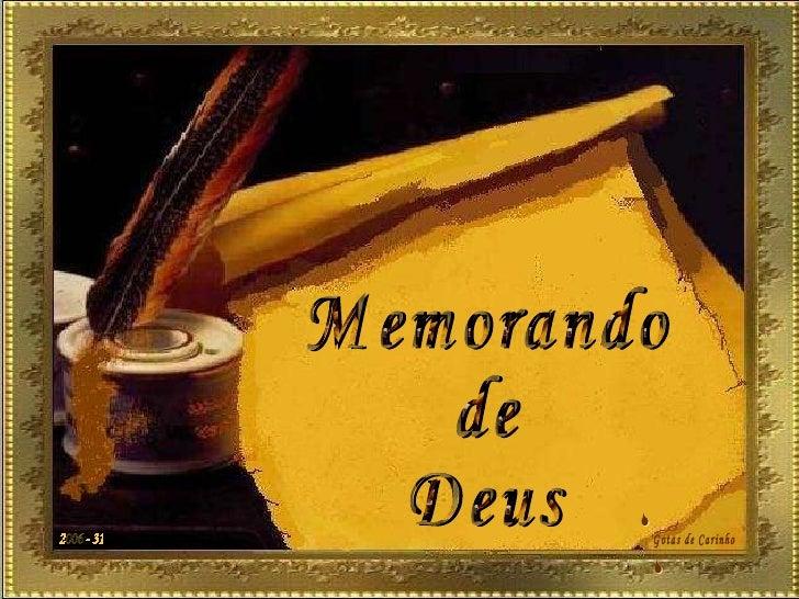 Memorando de Deus 2006 - 31 Gotas de Carinho S S