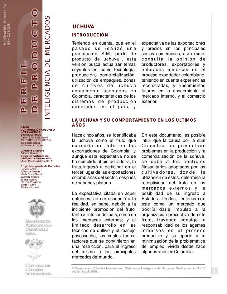 Publicación Numero 34                                                              INTELIGENCIA DE MERCADOS               ...