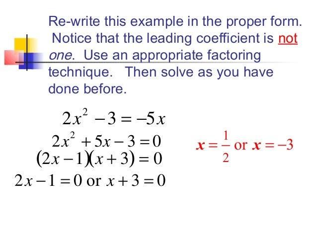 Solving Quadratics by Factoring