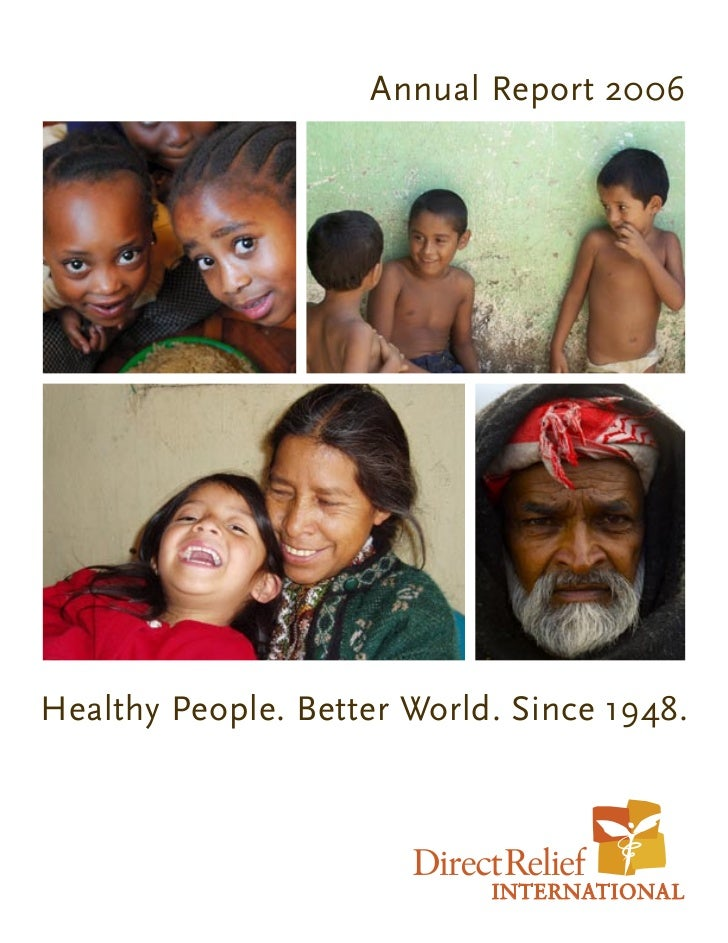Annual Report 2006Healthy People. Better World. Since 1948.