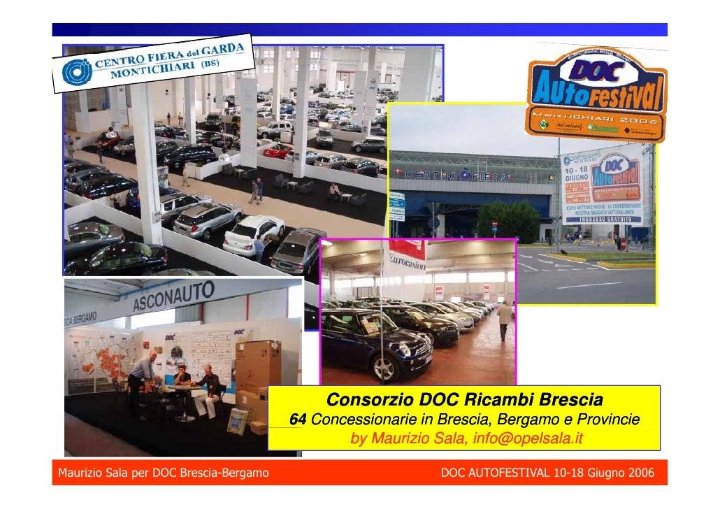 Consorzio DOC Ricambi Brescia                                         64 Concessionarie in Brescia, Bergamo e Provincie   ...