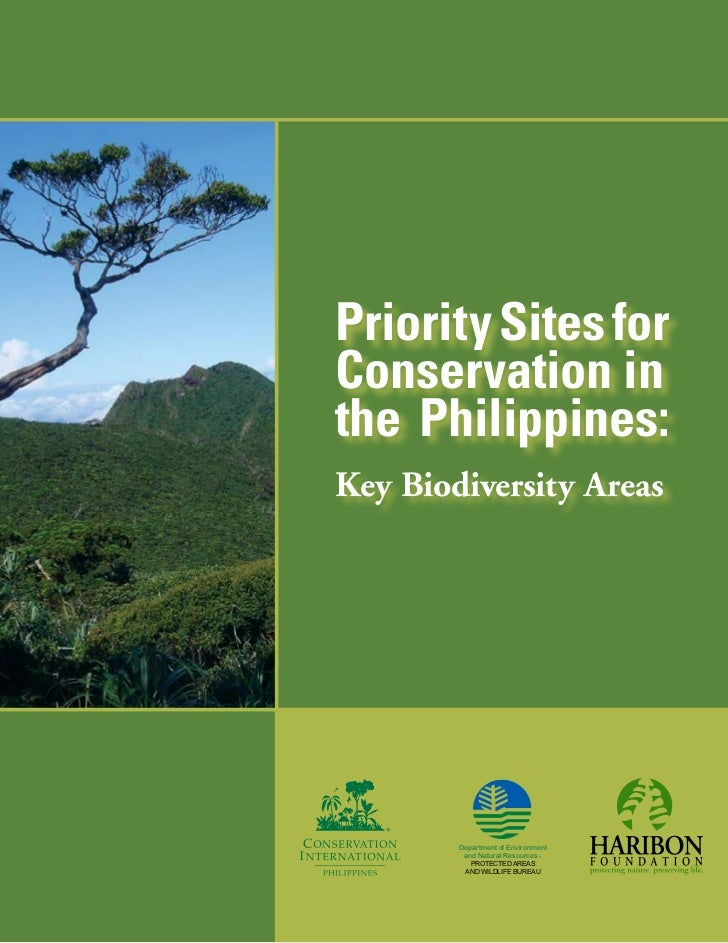 Priority Sites forConservation inthe Philippines:Key Biodiversity Areas        Department of Environment         and Natur...