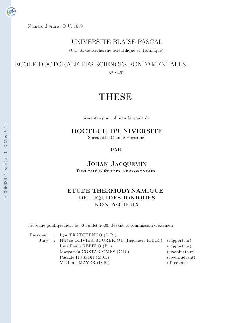 Numéro d'ordre : D.U. 1659                                                               UNIVERSITE BLAISE PASCAL         ...