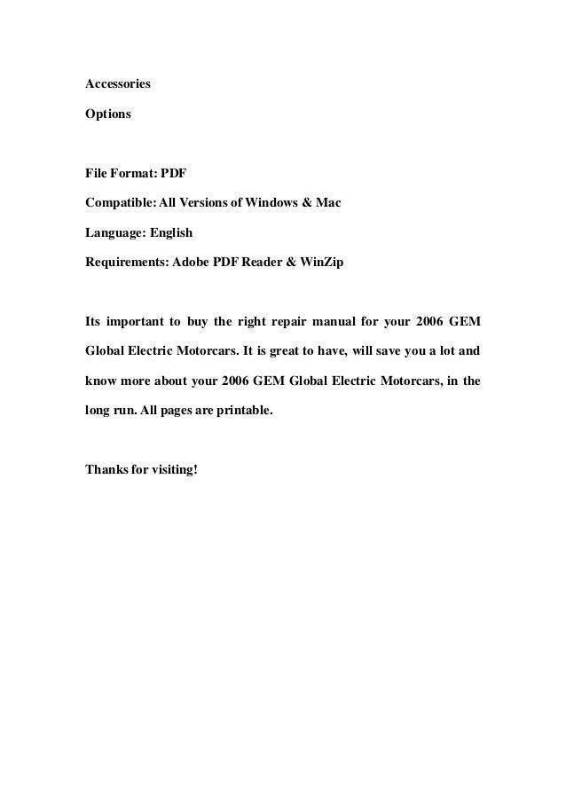 2006 Gem Global Electric Motorcars Parts Catalog And Service Repair W\u2026rhslideshare: Gem Parts Catalog At Gmaili.net