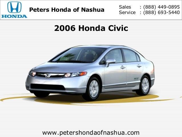 Sales : (888) 449 0895Peters Honda Of Nashua Service : (888) » Peters Honda  ...
