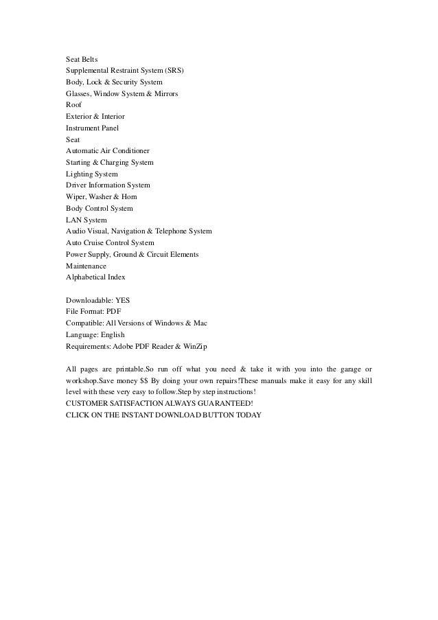 2006 Infiniti G35 Coupe Service Repair Manual Instant Download