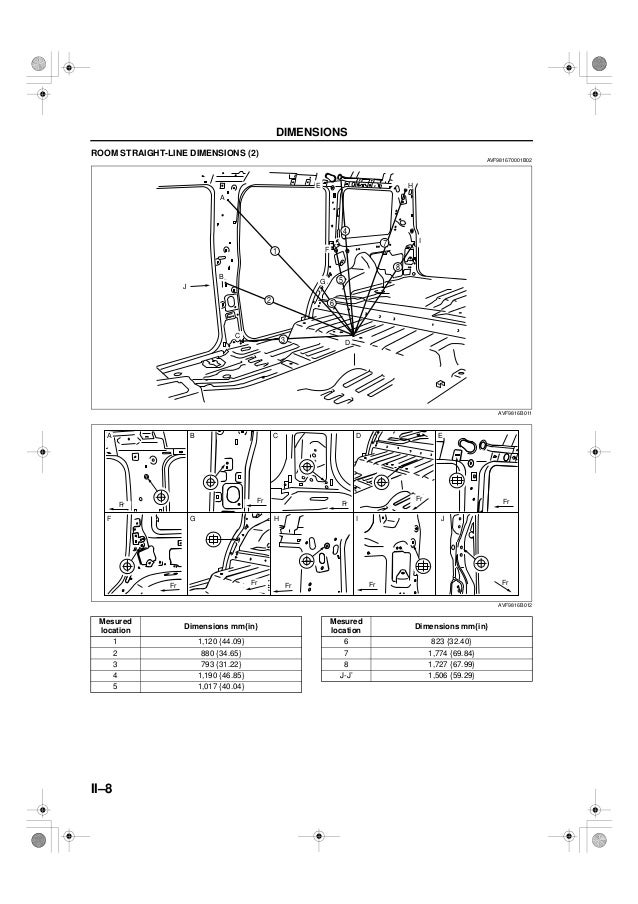 Manual De Medidas Carroceria Y Chasis Ranger Courier Fordrhslideshare: Ford Ranger Frame Schematic At Gmaili.net