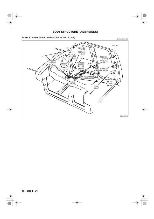 manual de medidas de carroceria y chasis ranger courier (ford)
