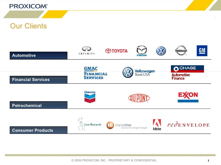 Our Clients Automotive Consumer Products Petrochemical Financial Services