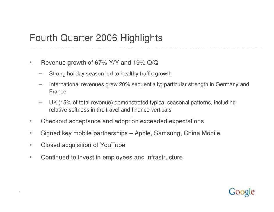 2006 Q4 Google Earnings Slides Slide 2