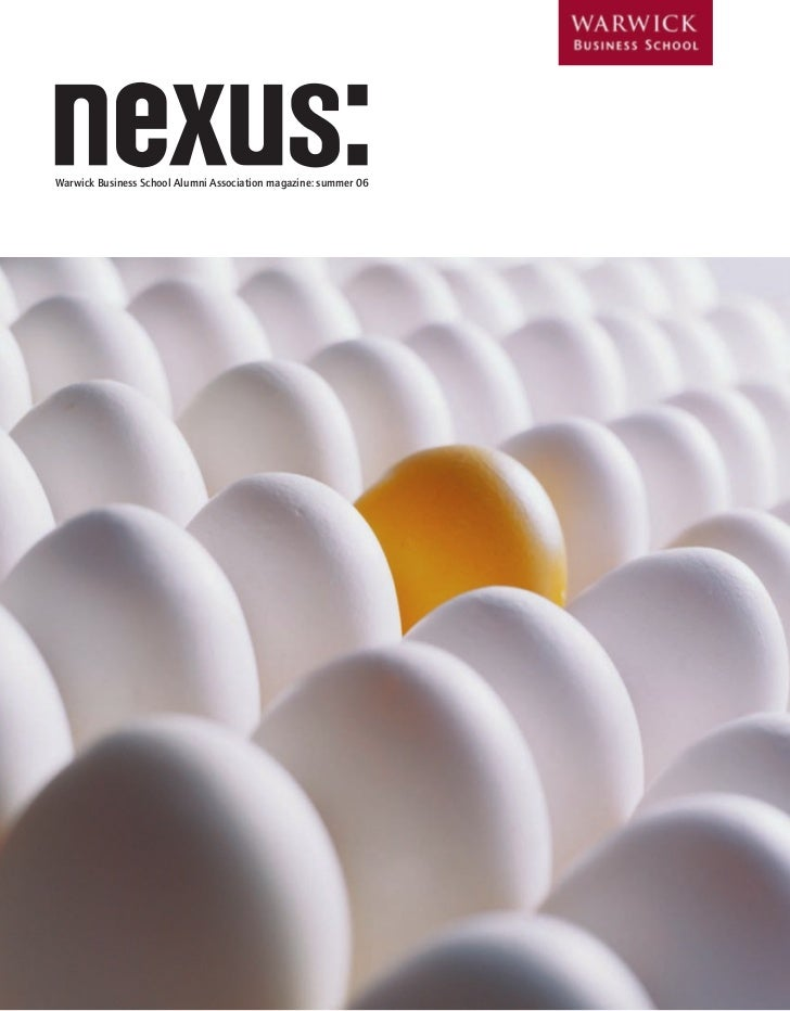 1     Warwick Business School Alumni Association magazine: summer 06