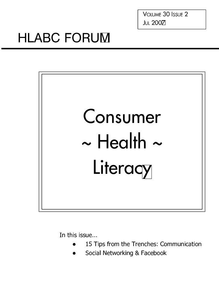 HLABC Forum: July 2007