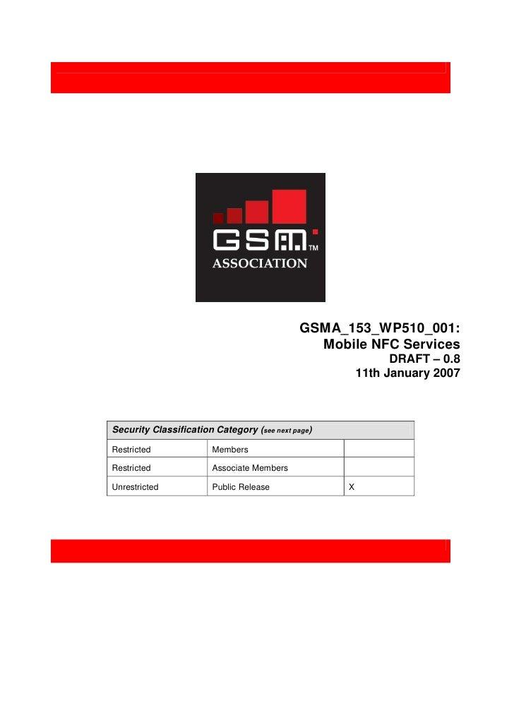 GSMA_153_WP510_001:                                                Mobile NFC Services                                    ...