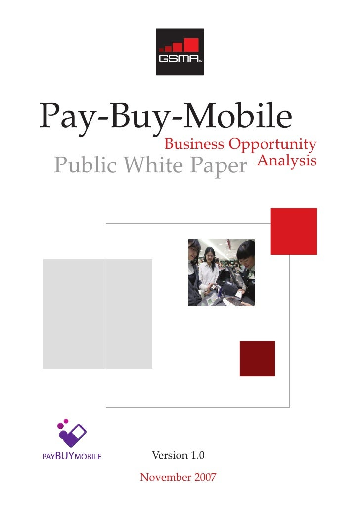 Pay-Buy-Mobile             Business Opportunity Public   White Paper Analysis                 Version 1.0            Novem...
