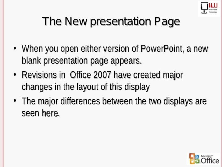2003 2007 power point differences 3 the new presentation toneelgroepblik Image collections
