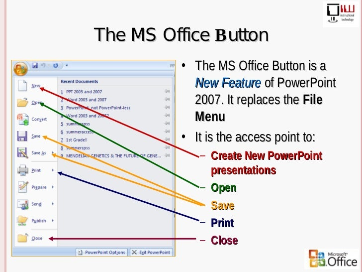 2003-2007 power point differences.