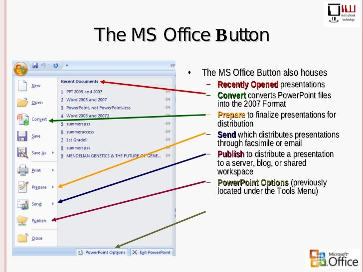 The switch from microsoft office 2003 to 2007 microsoft word.