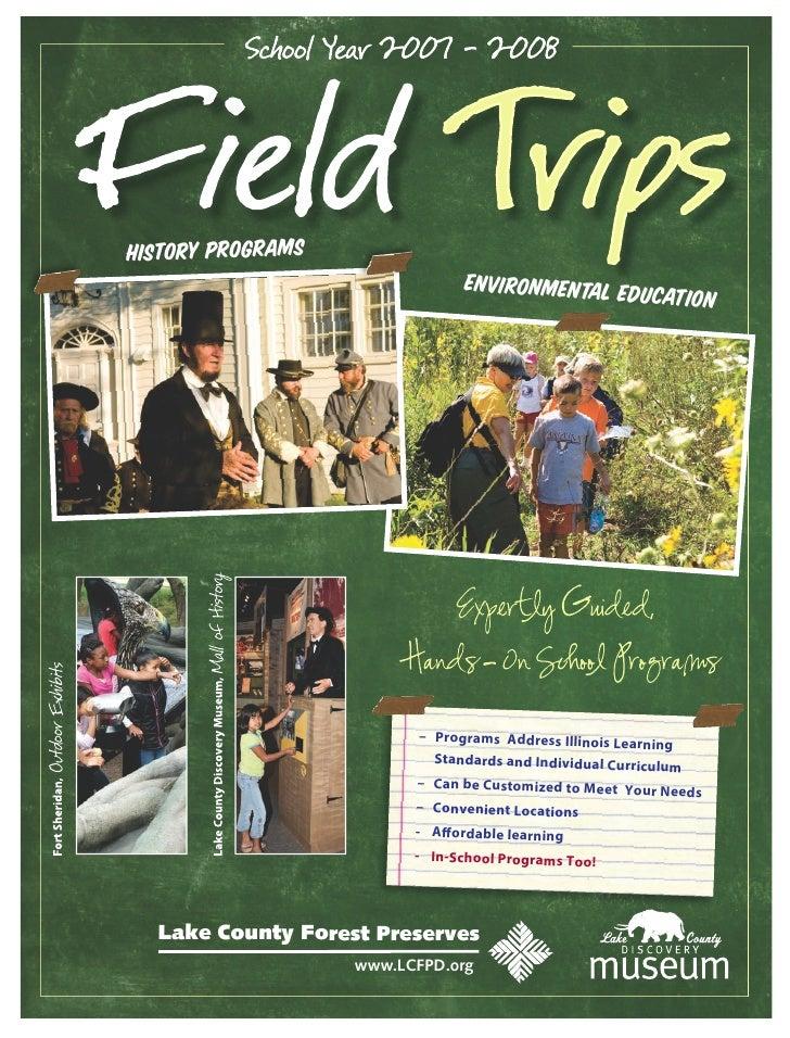 History Programs                                 Environmental educ                                                   at  ...